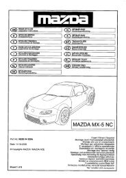 Mazda MX5 MK2//RHD  Rear crossmember  Brake Pipe