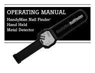 HandyMan Nail Finder - Kellyco Metal Detectors