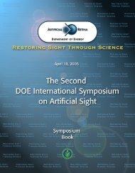 Second DOE International Symposium on Artificial Sight