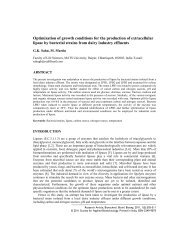 Optimization of growth conditions for the production of extracellular ...
