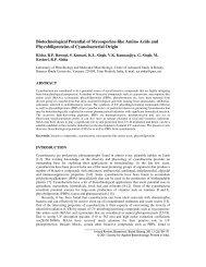 Biotechnological Potential of Mycosporine-like Amino Acids and ...