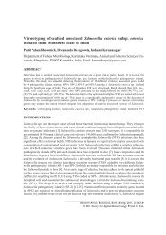 Virulotyping of seafood associated Salmonella enterica subsp ...