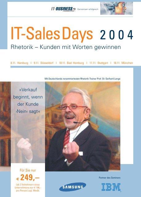 Flyer IT-Sales Days 2004 - Akademie