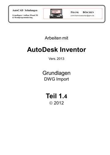 AutoDesk Inventor Teil 1.4 - VHS-DH.de