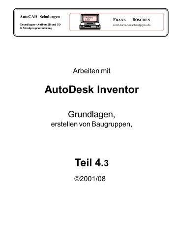 AutoDesk Inventor Teil 4.3 - VHS-DH.de