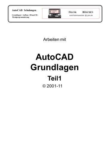 AutoCAD Grundlagen - VHS-DH.de