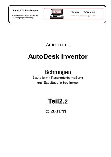 AutoDesk Inventor Teil2.2 - VHS-DH.de