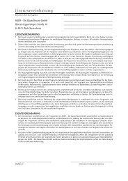 Lizenzvereinbarung - AUER - Die Bausoftware GmbH