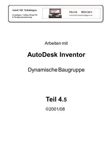 AutoDesk Inventor Teil 4.5 - VHS-DH.de