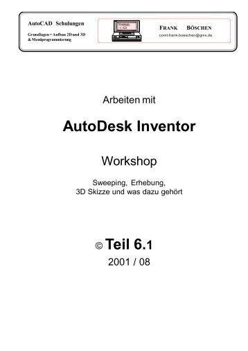 AutoDesk Inventor Teil 6.1 - VHS-DH.de