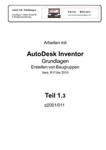 AutoDesk Inventor Teil 1.3 - VHS-DH.de