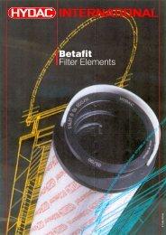 BETAFIT® filter elements - filtr, filtry, filtrace