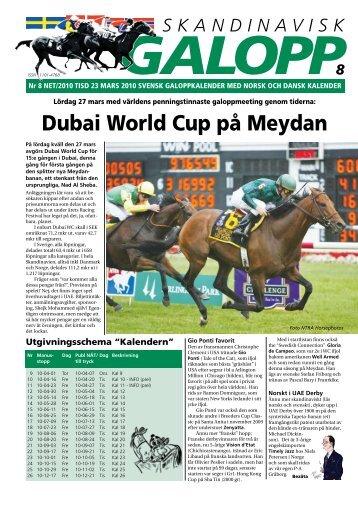 Dubai World Cup på Meydan - Øvrevoll Galoppbane