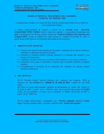 BASES COMPETENCIA  FOLCLORICA FESTIVAL DEL CAMARON 2015 (corregidas)