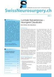 Lumbale Spinalstenose – neurogene Claudicatio