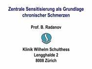 Zentrale Sensitisierung als Grundlage chronischer Schmerzen