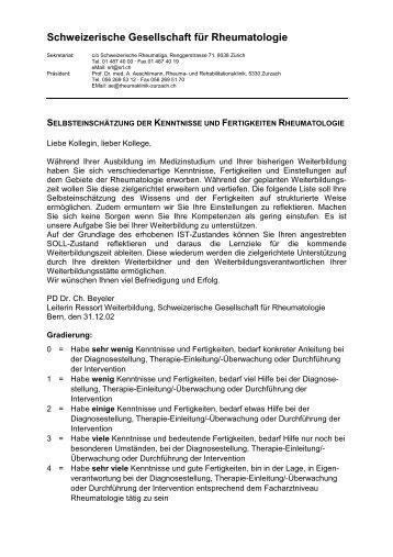 Schweizerische Gesellschaft für Rheumatologie