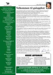 Program Derby_komplett.pdf - Øvrevoll Galoppbane