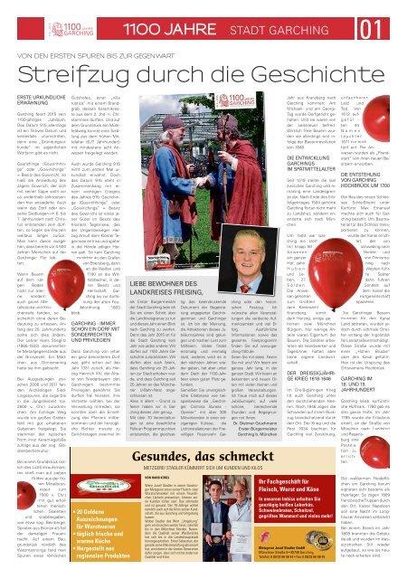 FS Tagblatt Sonderseiten 1100 Jahre Stadt Garching