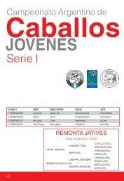 Anuario, paginas 59-82 - Asociación Argentina de Fomento Equino