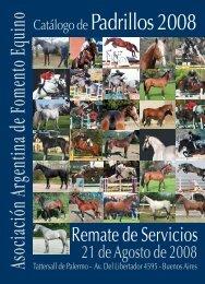 Catálogo dePadrillos 2008 - Asociación Argentina de Fomento Equino