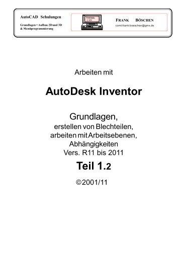 AutoDesk Inventor Teil 1.2 - VHS-DH.de