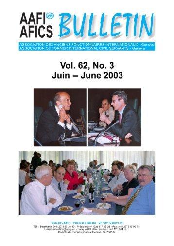nouvelles de notre association - AAFI-AFICS, Geneva - UNOG