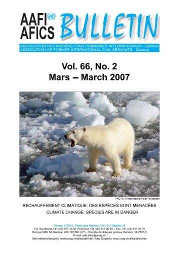 VOL. 66, NO. 2 - AAFI-AFICS, Geneva - UNOG