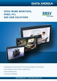 Open FrAMe MOnITOrS, pAneL pcs AnD OeM ... - Data Modul
