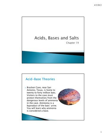 acids bases and neutrals Experiment 6 acid and base strength 1 purpose : 1 to distinguish between acids, bases and neutral substances, by observing their effect.