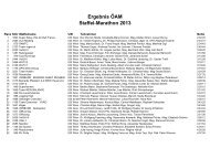 Ergebnisse Staffelmarathon 2013 - Unisport Austria