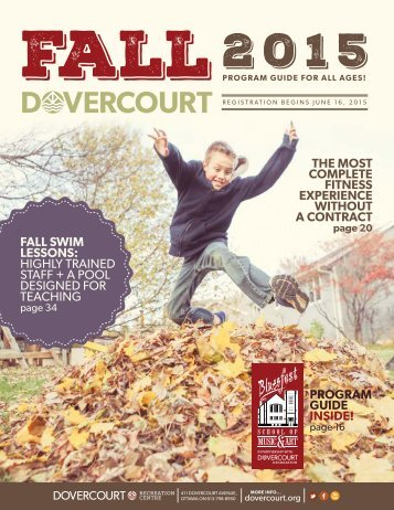 Dovercourt Fall 2015 Program Book