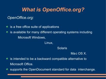 Open Office Intro