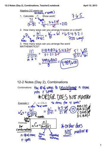 algebra 4 permutations combinations worksheet name 1 fifteen. Black Bedroom Furniture Sets. Home Design Ideas