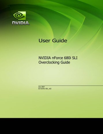 User Guide - Nvidia's Download site!!
