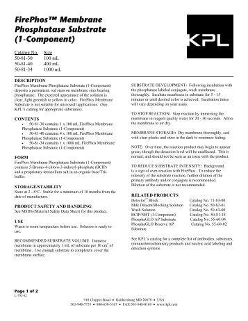 TMB Membrane Peroxidase Substrate System KPL