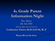 Parent Information PowerPoint - Tough Elementary School