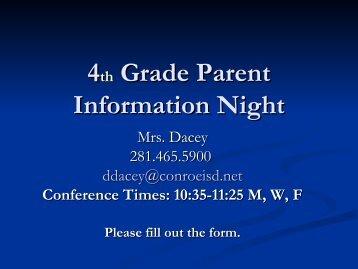 Parent Information PowerPoint - Tough Elementary School