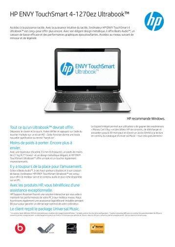 PSG Consumer 1C13 HP Notebook Datasheet - Fruitstore.ch