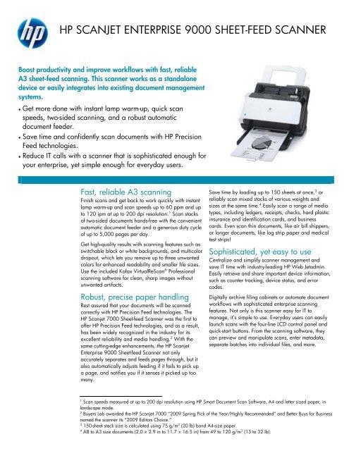 hp scanjet enterprise 9000 sheet-feed scanner - Product