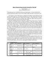 Basic Stamp Experiments Using the TSL230 - Iona Physics