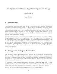 An Application of Linear Algebra in Population Biology