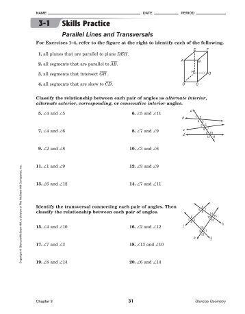 Worksheet Parallel Lines And Transversals Worksheet angles formed by parallel lines and transversals worksheet 3 2 answers intrepidpath