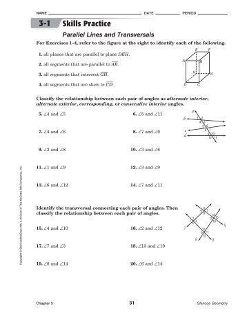 PDF] geometry practice 3 1 properties of parallel lines worksheet ...