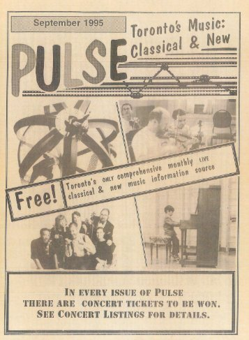 "Volume 1 Issue 1 - September 1995 ""Pulse"""
