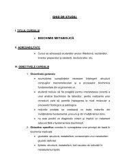04. ghid de studiu BIOCHIMIE METABOLICA sectia romana ... - UMF
