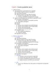 Cursul 8 – Genetica populaţiilor umane - UMF