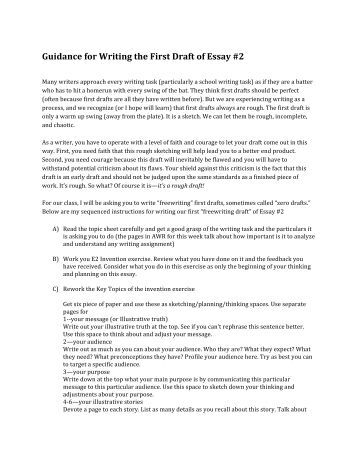 Writing a documented essay