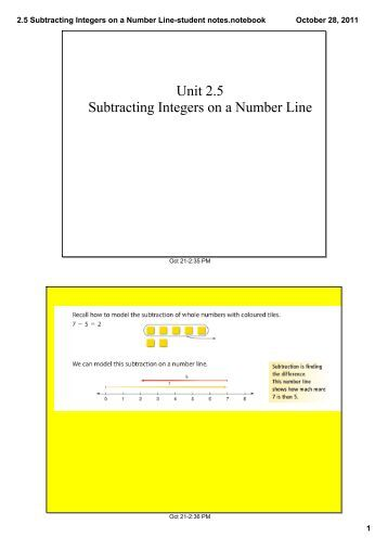 Adding and subtracting integers on a number line worksheet pdf