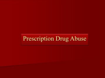 Prescription Drug Abuse - Administrative Office of the Courts